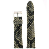 Quick Change Replacement Watch Band in Leather | Cream Snakeskin | TechSwiss LEA1510 | Third View