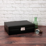 Watch Box in Black Leather | TSA410BLK | TechSwiss | Mens Cases | Sample