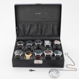 Watch Box in Black Leather | TSA410BLK | TechSwiss | Mens Cases | Front
