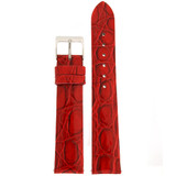 Red Crocodile Embossed Patent Leather Watch Band | Built In Spring Bars | TechSwiss LEA1501 | Main