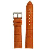 Orange Crocodile Grain Leather Watch Bad  | TechSwiss LEA225 | Main