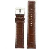 Espresso Leather Watch Band in Alligator Grain LEA465 | Front