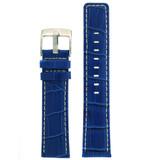 Square Modern Blue leather Alligator Grain Watch Band | TechSwiss LEA467 | Main