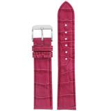 Fuchshia Leather Watch Band in Alligator Grain LEA674 | Front