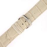 Watch Band Cream Genuine Leather Alligator Grain