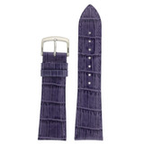 Dark Purple Alligator Grain Leather Watch Band | TechSwiss Purple Watch Straps LEA710PURPLE | Main