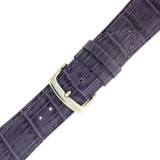 Dark Purple Alligator Grain Leather Watch Band | TechSwiss Purple Watch Straps LEA710PURPLE | Buckle
