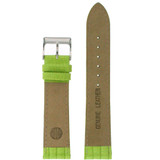 Lime Green Patent Lizard Grain Leather Watch Band   TechSwiss Leather Watch Bands    LEA416 Lining