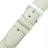 Genuine Lizard Watch Band in White LEA720 | Buckle