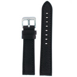 Watch Band Soft Comfortable Black Genuine Leather 18mm - 26mm