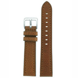 Watch Band Honey Brown Genuine Leather LEA1462 | Front