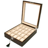 Watch Box with Large Display Window in Cherry