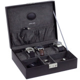Black Leather Jewelry and Watch Box | TechSwiss Mens Cases | TechSwiss TS521BLK | Main