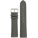 Watch Band Carbon Fiber Grey Water Resistant Padded LEA461 | TechSwiss | Front