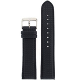 Watch Band Carbon Fiber Black Water Resistant Padded LEA460 | TechSwiss | Front