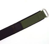 Olive Green Nylon Velcro Sport Watch Strap | TechSwiss VEL100G | Clasp