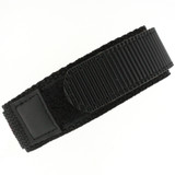 Black Velcro Watch Band | TechSwiss Black Velcro Watch Strap | VEL100BLK | Strap