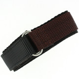 Brown Velcro Watch Band | TechSwiss Brown Velcro Watch Strap | VEL100BRN | Main