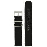 Nylon Strap with Stainless Steel Buckle - Black