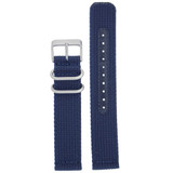 Nylon Strap with Stainless Steel Buckle - Navy