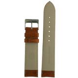 Watch Band Calfskin Leather Tan Padded Comfort LEA480   Back