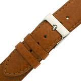 Watch Band Calfskin Leather Tan Padded Comfort LEA480   Buckle