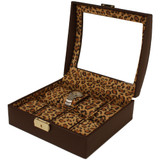Animal Print Watch Box for 8 Watches Ladies