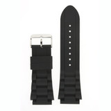 Watch Band Silicon Rubber Link Style in Black Sport 20mm 22mm 24mm
