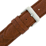 Honey Brown Long Leather Watch Band | Vintage Leather Watch Strap | Long TechSwiss Straps LEA1410 | Buckle
