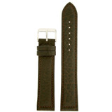 Dark Brown Long Leather Watch Band | Tobacco Brown Long Leather Straps | TechSwiss LEA1400 | Main