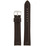 Extra Long Espresso Brown Leather Watch Band | Long Dark Brown Watch Straps | TechSwiss LEA1470 | Main