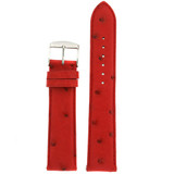 Red Ostrich Skin Watch Band | Genuine Exotic Skins | TechSwiss LEA1000 | Main