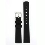 Silicone Rubber Watch Band in Black 18mm 20mm