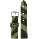 Camouflage Army Green Silicone Rubber Watch Band | TechSwiss RS130GRN | Lining