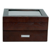 Brown Espresso 20 | Watch Box with High Clearance | TSBOX20ESS closed front