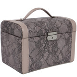 Mauve Lace Jewelry Box | Ladies Luxury Jewelry Cases | TechSwiss  TS0014 | Main