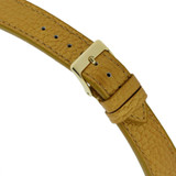 Metallic Leather Watch Band in Bronze Gold - Quick Release Springs 16mm - 20mm