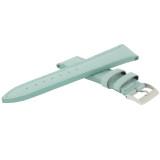Aqua Leather Watch Band | Natural Leather Watch Strap in Metallic Seafoam |  TechSwiss LEA563 | Side