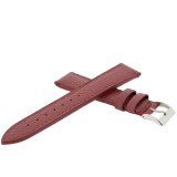 Burgundy Leather Watch Band   Metallic Leather Straps   TechSwiss LEA565   Side