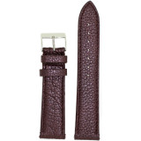 Watch Band Genuine Leather Brown Purple Metallic - Quick Release Springs | Front