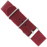 Watch Band Nylon One Piece Military Style Sport Burgundy Red 20mm
