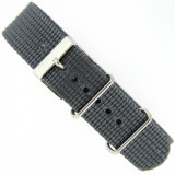 Watch Band Nylon One Piece Military Style Sport Grey 20mm