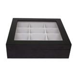 Tie Box by TechSwiss | Tie storage case | Necktie storage case | TIEBOX1BK - CLOSED