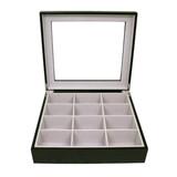Tie Box by TechSwiss | Tie storage case | Necktie storage case | TIEBOX1BK - OPEN FRONT