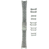 Stainless Steel Metal Watch Band Bracelet 18mm-22 mm (Set of 5) End Pieces