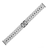 Watch Band Mens Link Metal Stainless Steel Fold Over Clasp 18 millimeter