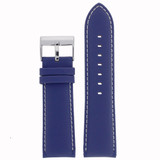 Watch Band Nylon Blue Padded Water Resistant Leather Lining LEA623 |TechSwiss | Front