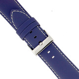 Watch Band Nylon Blue Padded Water Resistant Leather Lining LEA623  TechSwiss   Buckle