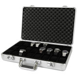 Watch Case Aluminum Briefcase Design For 24 Large Watches | Side Open