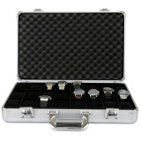 Watch Case Aluminum Briefcase Design For 24 Large Watches   Front open